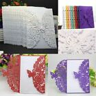 Внешний вид - 12pcs Wedding Invitation Card Personalized Laser Cut Romantic Party Floral Lace