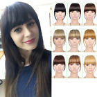 Natural Clip On Bangs Hair Extensions Synthetic Clip In Hair Thick Fringe Bangs