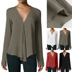 Fashion Womens Summer Casual Long Sleeve Loose Chiffon T-shirt Tops Shirt Blouse