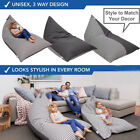Внешний вид - Stuffed Animal Storage Bean Bag Chair Extra Large Canvas Pouch Stripe Chair Sofa