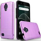 For AT&T Axia QS5509 Phone Case,Shockproof Cover+Tempered Glass Screen Protector