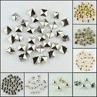Внешний вид - 100pcs Punk Rock Pyramid Dome Star Round Metal Nailhead Spike Rivets Studs New