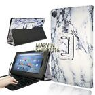Leather Stand Cover Case + Micro USB Keyboard For Amazon Fire HD 8 with Alexa