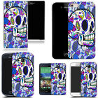 Gel case for most mobile phones cover bumper- blue hippie skull silicone günstig