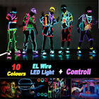 3m/5m Led Flexible Neon Light Glow El Strip Tube Cool Wire Rope Home Car Decor