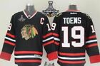 Chicago Blackhawks 19 Jonathan Toews Jersey2015 Championship Patch Black