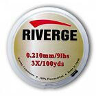 SeaGuar Riverge Leader Material Fluorocarbon 30yds/100yds Fly Fishing