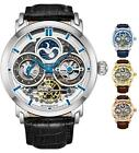 Stuhrling Luciano 371A Men's Automatic Self Wind Dual Time Animated AM/PM Watch
