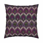 Peacock Peacock Feathers Africa Throw Pillow Cover w Optional Insert by Roostery