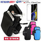 Внешний вид - For Galaxy Note 9/S9/S10+ Sports Gym Jogging Running Armband Holder + Clear Case