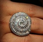 Jolie BAGUE ARGENT 925 ESCARGOT DIAMANTS CZ BRILLANTS ALLIANCE SILVER