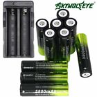 5800mAh SKYWOLFEYE 18650 Battery 3.7v Li-ion Rechargeable Batteries Cell Charger