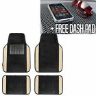 4pcs Universal Carpet Floor Mat Car SUV Van 10 Color Options Full Set w/ Gift