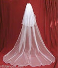 New 2T white or Ivory Wedding Bridal veil Cathedral Length with comb