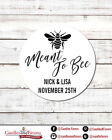 Meant To Bee Round Personalized Bridal Shower Bachelorette Party Sticker Labels