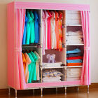 Double Triple Canvas Close Wardrobe Cupboard Folding Hanging Clothes Storage <br/> Top Quality&radic;3 Color&radic;Free &amp; Fast Post&radic;UK Seller