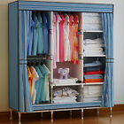 Double Triple Canvas Close Wardrobe Cupboard Folding Hanging Clothes Storage UK <br/> Top Quality&radic;3 Color&radic;Free &amp; Fast Delivery&radic;UK Seller