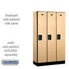 "Wood Lockers - 12"" W Single Tier Designer Commercial Locker - 3 Wide - 6' High"