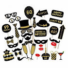 36pcs Birthday Party Photo Booth Props Party Decor Selfie 16/18/21/30/40/50/60th
