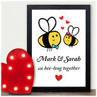 Personalised Gifts for Her Him Husband Wife Bee Couples Anniversary Christmas