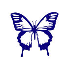 Butterfly Monarch - Vinyl Decal Sticker - Multiple Color & Sizes - ebn130