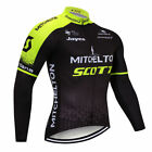 2019 Men Cycling Long Sleeve Jersey Bib Pant Kit Bicycle Bike Shirt Team Clothes