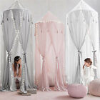 Baby Kid's Bed Canopy Mosquito Net Cotton Bed Curtain Tent With 10m Led Light image