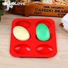 SILIKOLOVE Oval 3D Soap Molds Silicone 6 Cavity Handmade Non-stick Making Mol...