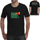 Pool player Cartoon Funny T Shirt personalised Billiards Snooker