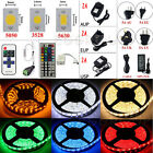 5M 10M SMD 3528 5050 5630 300 LED Flexible Strip Light +Remote +Power Supply
