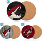 Arizona Coyotes Wood Coffee Cup Mat Mug Pad Tea Coaster Drink $3.49 USD on eBay