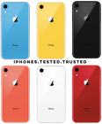Apple iPhone XR (Unlocked) 64GB/128GB/256GB - Coral Blue Yellow Black White Red