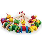 Educational Push and Pull Along Toy Cute Handcrafted Gift Frog Cat Duck Kids