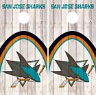 San Jose Sharks Cornhole Skin Wrap NHL Game Wood Decal Vinyl Sticker Logo DR505 $39.99 USD on eBay