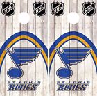 St. Louis Blues Cornhole Skin Wrap NHL Hockey Wood Decal Vinyl Sticker DR506 $39.99 USD on eBay