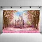Flowers Spring Photography Backdrop Castle Top Shower Children Photo Background