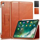 Apple iPad Pro 12.9 2018 Case Genuine Cowhide Leather Built-in Stand Smart Cover