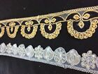 Fancy beaded Pearly Edging Lace Trimming for party wedding dreses or sari border