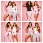 Besame Women Sexy Pajama Cami and Long Sleeve - Pants and Shorts Mix and Match