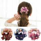 Lace Flower Hair Scrunchies Tie Hair Rope Ring Ponytail Holder Hair Accessories