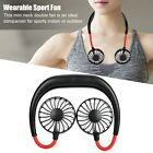 New Portable USB Rechargeable Mini Neckband Hanging Style Hands Free Neck Fan