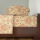 Indian Persian Damask Medieval Islamic Cotton Sateen Sheet Set by Roostery image