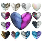 Magic Heart Pillow Case Cover Reversible Sequins Mermaid Glitter Sofa Cushion   image
