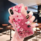 For iPhone X Samsung S9 Huawei Gel Liquid Moving Quicksand Shockproof Case Cover