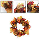 Fall Front Door Wreath Gift Rattan Circle Festival Party Decor Outdoor Display +