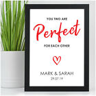 Personalised Engagement Gifts for Couples Fiance Fiancee Engaged Couples Present
