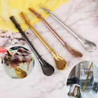 Stainless steel drinking tea yerba mate straw gourd bombilla filters spoons DR97