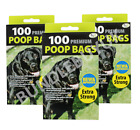 Dog Poo Bags Scented Doggy Bags Strong Large Waste Bags Tie Handles Pet Poop