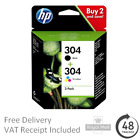 Genuine HP 304 - 304XL Black & Colour Ink Cartridges for HP ENVY 5055