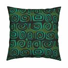 Vintage Abstract Geometric Throw Pillow Cover w Optional Insert by Roostery